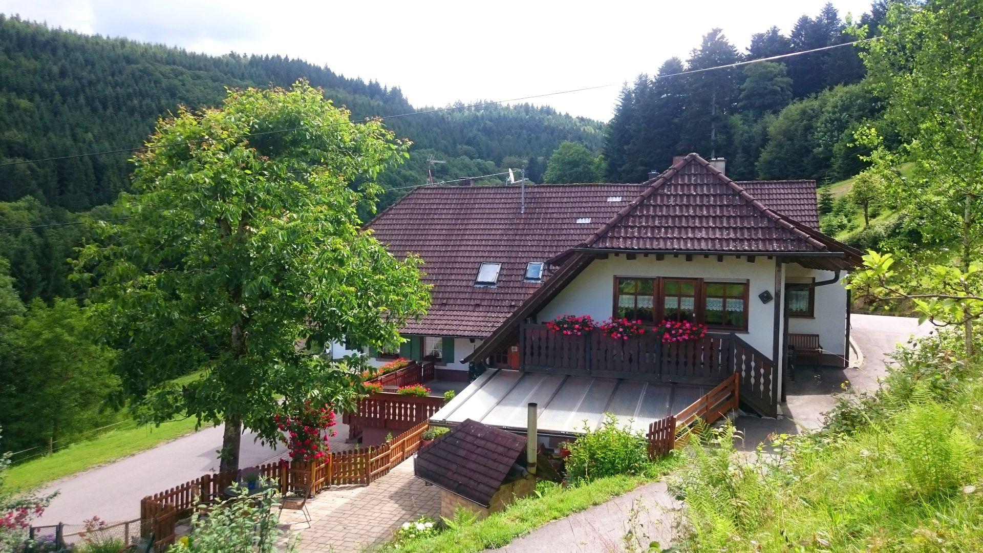 Der Wälderhof, die Ferienwohnung Balkonblick im oberen Stockwerk