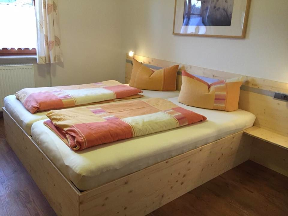 Wälderhof Schlafzimmer Ferienwohnung Terrassenblick