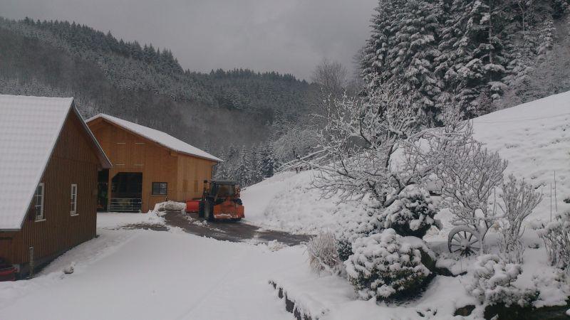 Der Winter ist zurück Schneeräumen Wälderhof