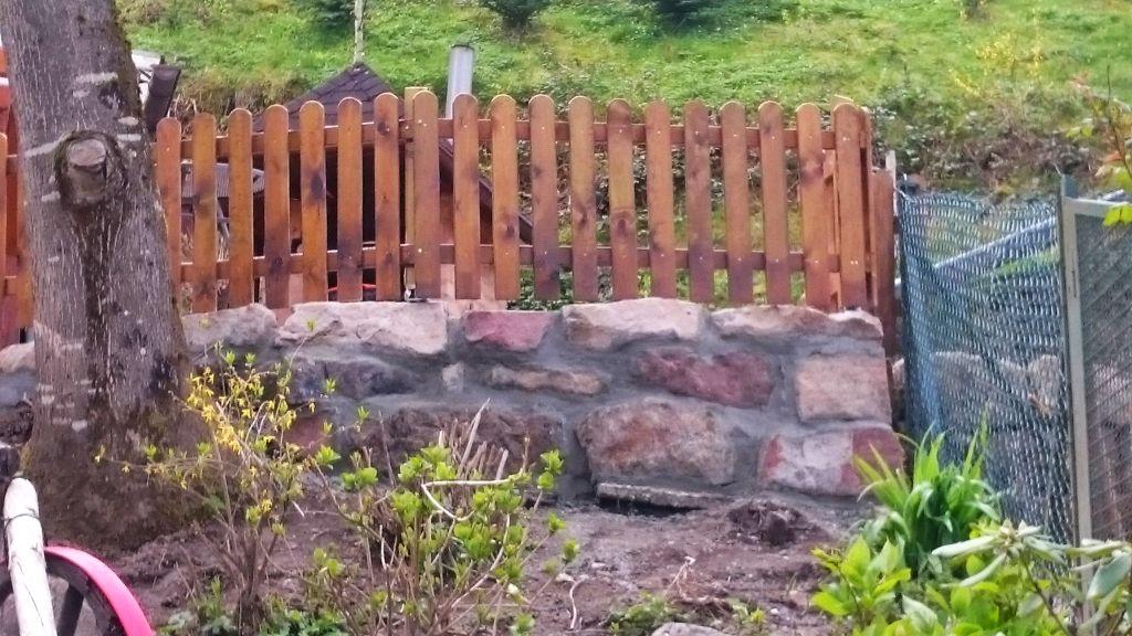 Die Mauer ein paar Tage später