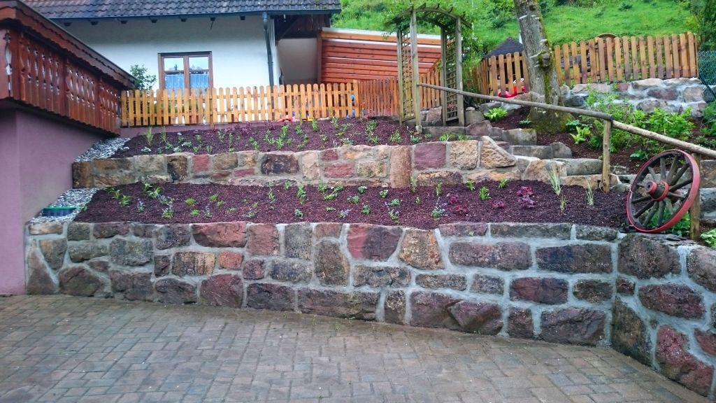 So fertig für heute, der neue Garten auf dem Wälderhof