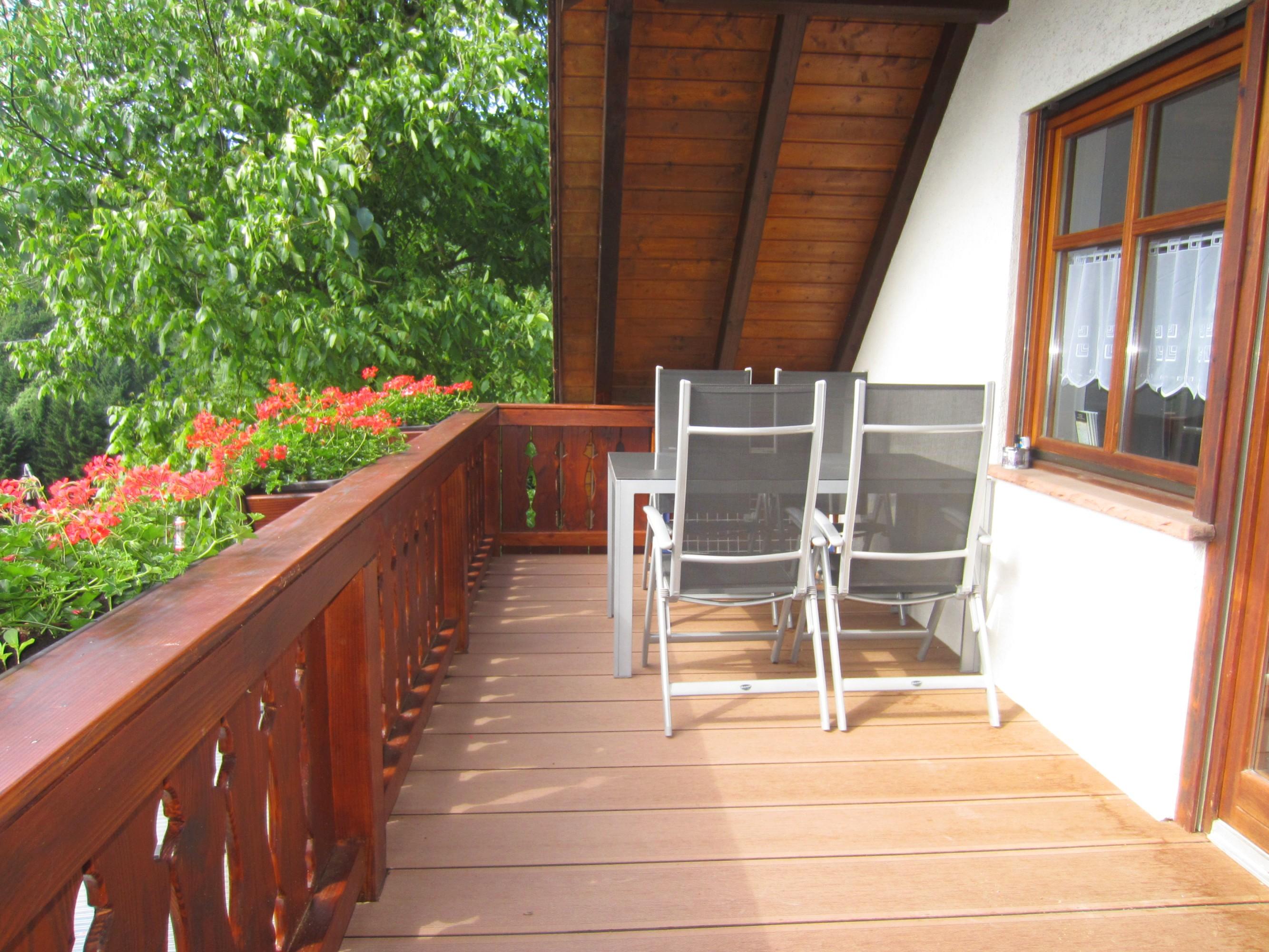 Balkon Ferienwohnung Balkonblick