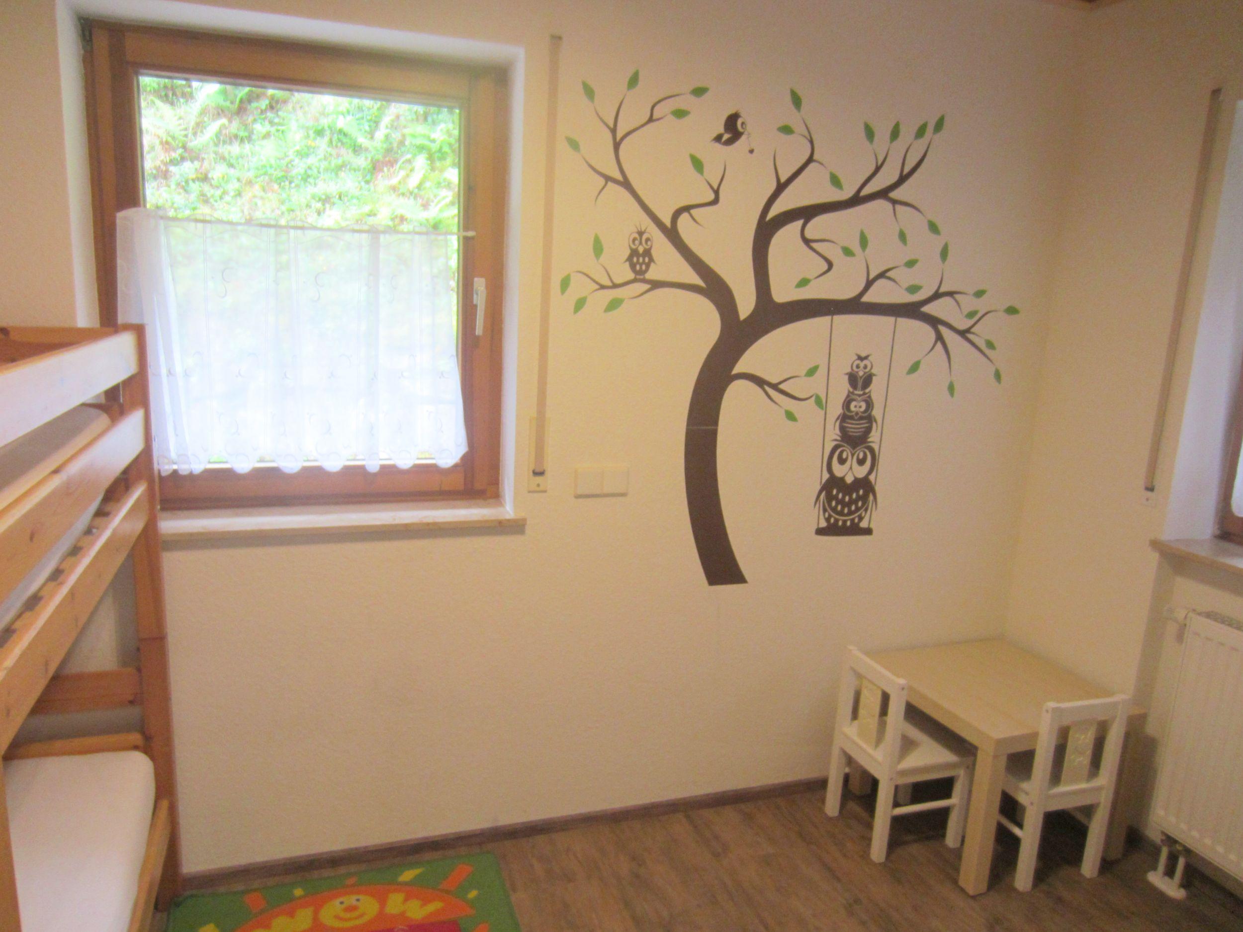 Kinderzimmer Ferienwohnung Balkonblick