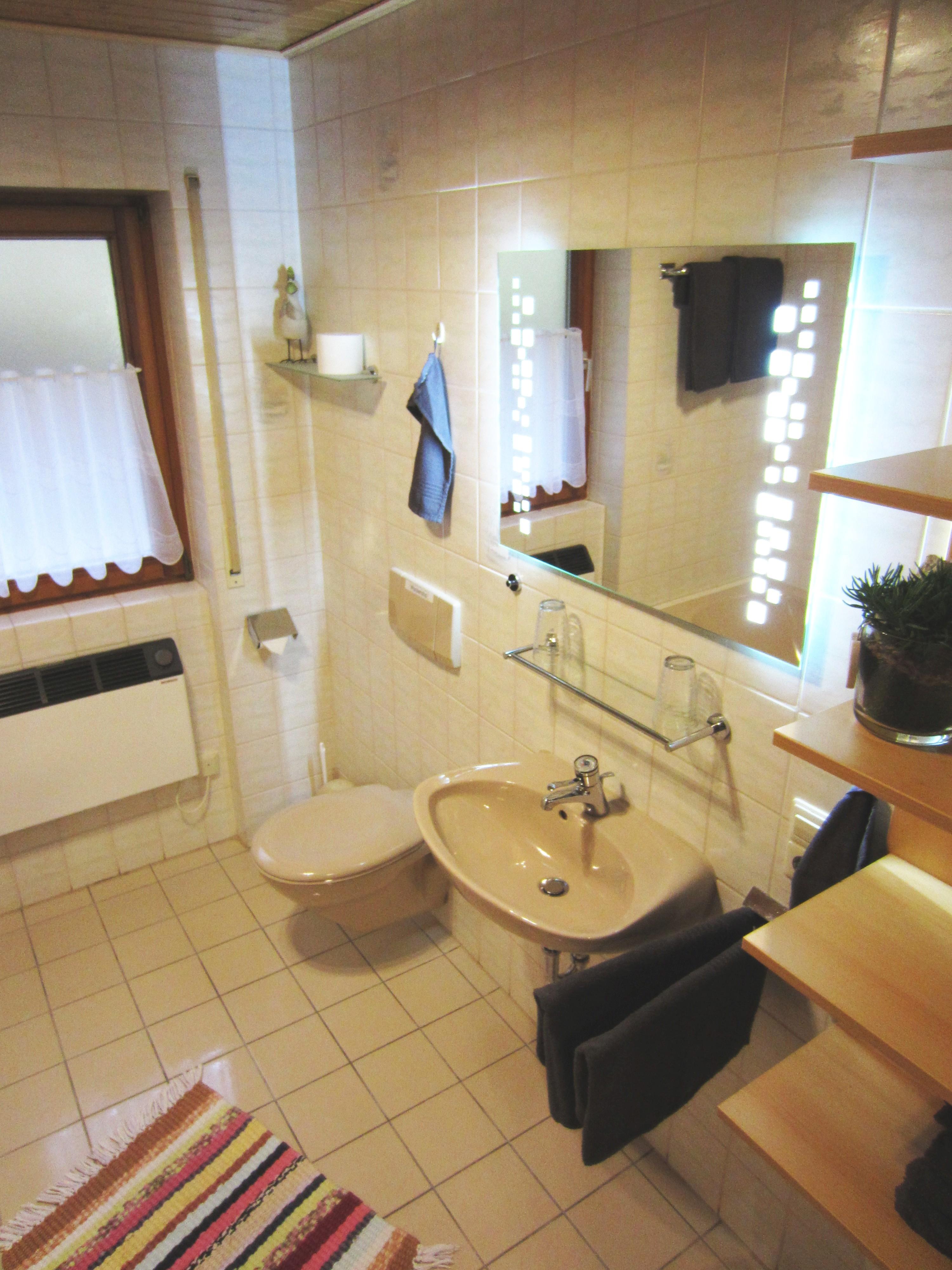 Bathroom Holiday flat Balkonblick