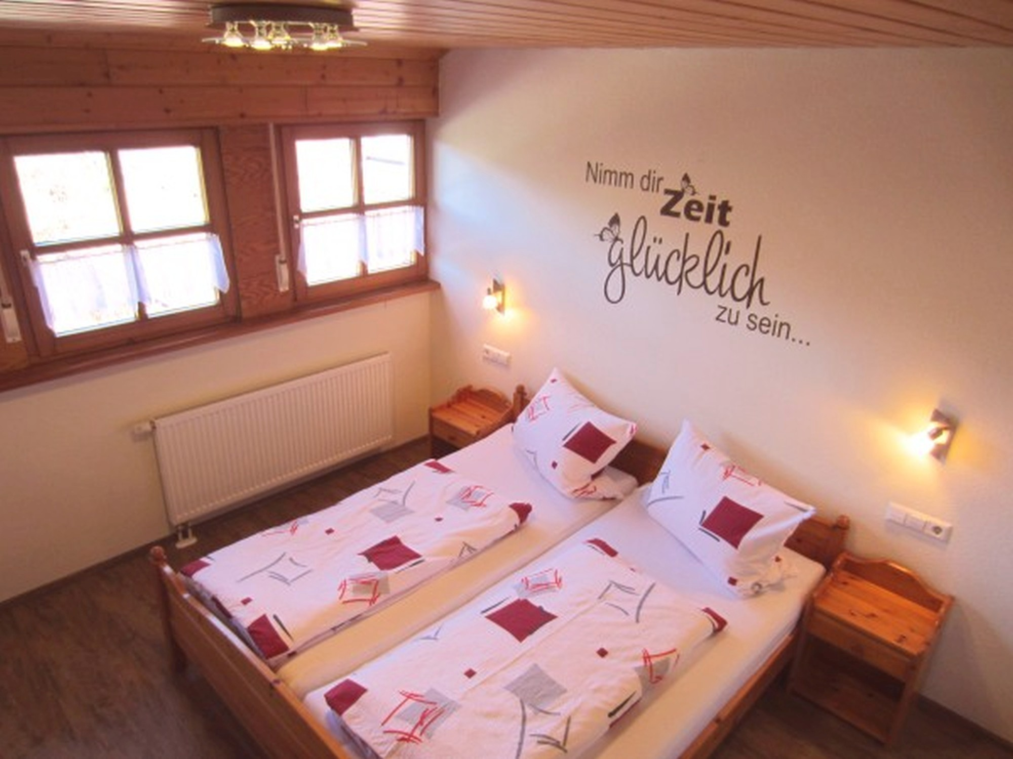 Bedroom vacation home above Balkonblick