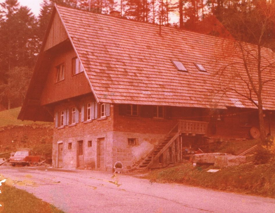 The Wälderhof 1973 Such was the Farm in the 70s before the major renovation work began