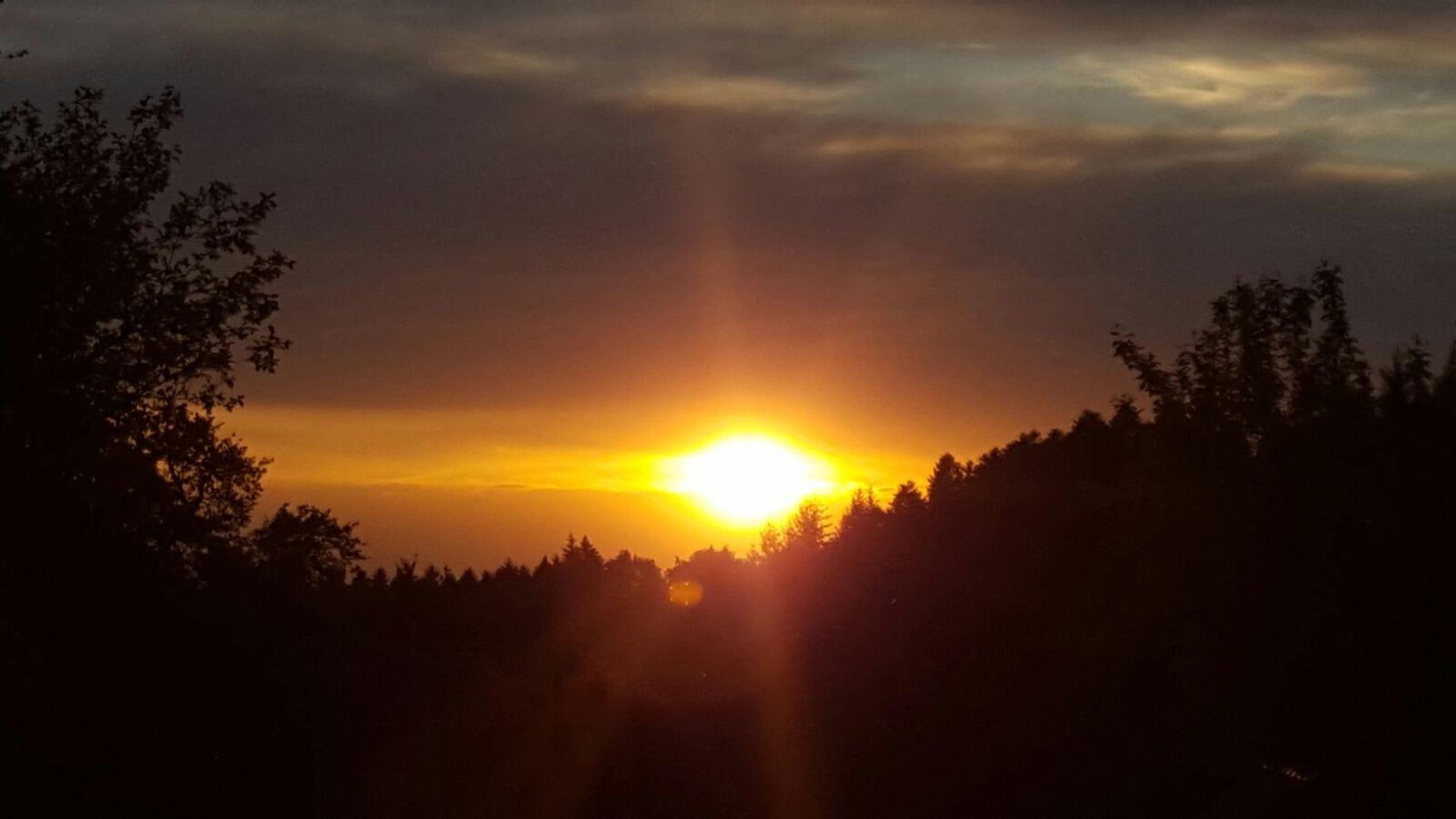 Sonnenuntergang am Wälderhof, wie bestellt